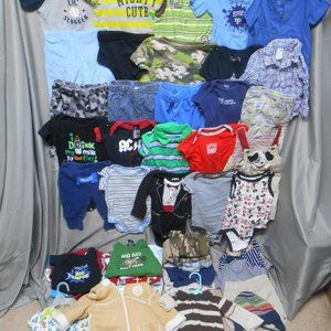 Other - Lot of 52 pcs boys clothes 3-6 + 6 months Carter +